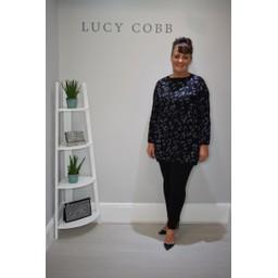 Lucy Cobb Gilly Glitter Print Tunic - Black