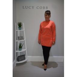 Lucy Cobb Gilly Glitter Print Tunic - Orange