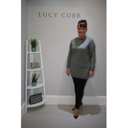 Lucy Cobb Gilly Glitter Print Tunic - Khaki