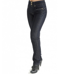 Salsa Jeans Secret Push In Skinny Jeans - Dark Denim