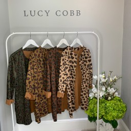 Lucy Cobb Faux Suede Leopard Jacket - Chocolate