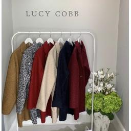 Lucy Cobb Jess Boucle Coat - Dark Grey