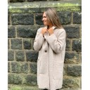 Jess Boucle Coat - Stone - Alternative 1