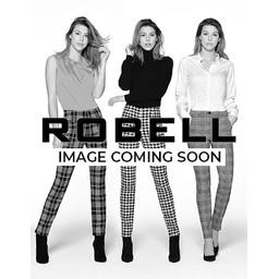 Robell Trousers Marie Full Length Velvet Trousers - Navy