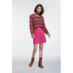 Oui Wool Mini Skirt - Pink