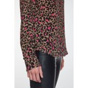 Pink Leopard High Neck Blouse - Pink Leopard - Alternative 4