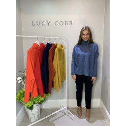 Lucy Cobb Janette Jumper in Denim Blue
