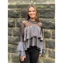 Samba Ruffle Top - Silver - Alternative 1