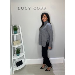 Lucy Cobb Christy Side Tie Jumper in Grey