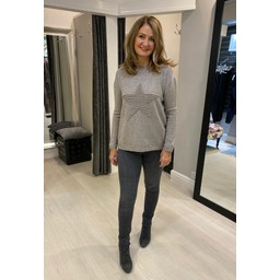 Lucy Cobb Star Jumper in Taupe
