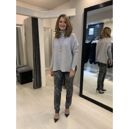 Lucy Cobb Janette Jumper in Silver Grey