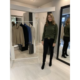 Lucy Cobb Pia Polo Neck in Khaki