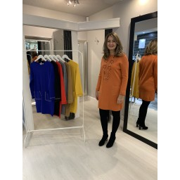 Lucy Cobb Chain Pocket Tunic - Orange