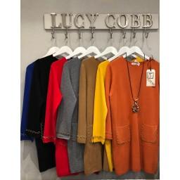 Lucy Cobb Chain Pocket Tunic - Mustard