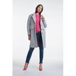 Oui Classic Wool Coat - Grey