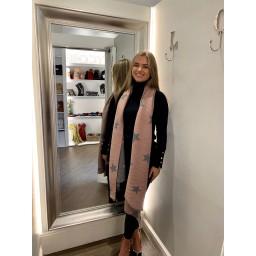 Lucy Cobb Zodiac Star Scarf in Dusky Pink