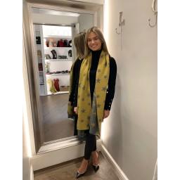 Lucy Cobb Zodiac Star Scarf in Mustard