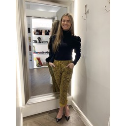 Lucy Cobb Leopard Magic Trousers in Mustard