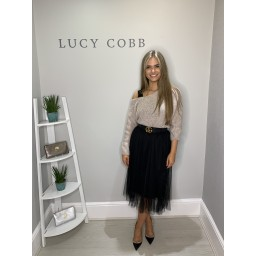 Lucy Cobb Nadia Net Skirt - Black
