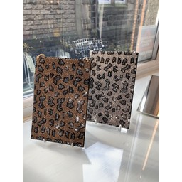 Malissa J Mobile Phone Bling Bag - Gold Animal Print