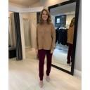 Bella Full Length Corduroy Trousers - Aubergine