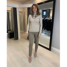 Robell Trousers Bella Petite / Shorter Length Trousers in Taupe