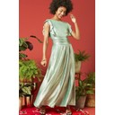 Rosie Ruffle Maxi Dress - Metallic Green - Alternative 1