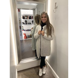 Lucy Cobb Cody Knitted Jacket in Stone