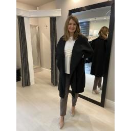 Lucy Cobb Jessica Boucle Coat - Black