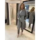 Jessica Boucle Coat - Grey Mix