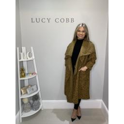 Lucy Cobb Jessica Boucle Coat - Mustard