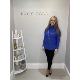 Lucy Cobb Janette Jumper in Cornflower Blue