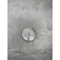 Lucy Cobb Accessories Tree Of Life Strong Magnetic Brooch in Pewter