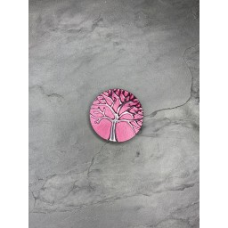 Lucy Cobb Accessories Tree Of Life Strong Magnetic Brooch in Pink (431)