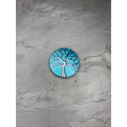 Lucy Cobb Accessories Tree Of Life Strong Magnetic Brooch in Turquoise