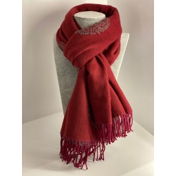 Lucy Cobb Willow Pashmina in Berry