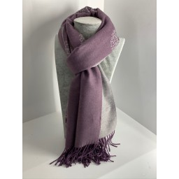 Lucy Cobb Willow Pashmina in Purple