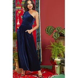 Onjenu Rosa Dress - Navy Velvet