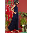 Rosa Dress - Navy Velvet - Alternative 1