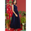 Rosa Dress - Navy Velvet - Alternative 3