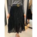 Perla Pleated Skirt - Black (90) - Alternative 1