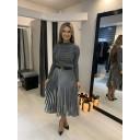 Perla Pleated Skirt - Silver - Alternative 1