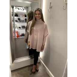 Lucy Cobb Cassie Oversized Cowl Neck - Blush Pink