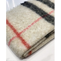 Lucy Cobb Accessories Super Soft Check Scarf in Stone