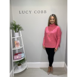Lucy Cobb Janette Jumper in Bubblegum Pink