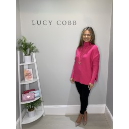 Lucy Cobb Janette Jumper in Fuchsia