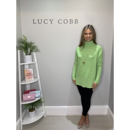 Lucy Cobb Janette Jumper - Lime Green
