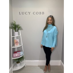 Lucy Cobb Janette Jumper in Turquoise