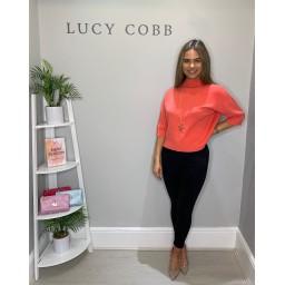 Lucy Cobb Bali Box Jumper  - Coral