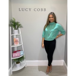 Lucy Cobb Bali Box Jumper  - Jade Green